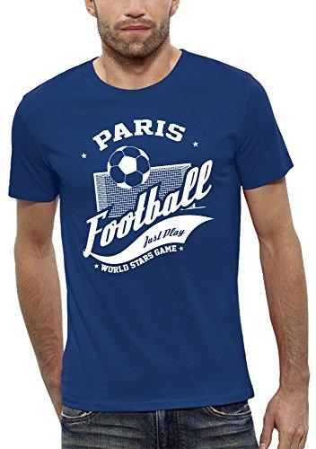 Pixel evolution maglietta 3d calcio paris in realtà aumentata uomo - taglia s - blu reale