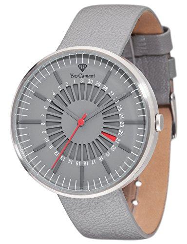 Yves Camani Morvan - Reloj para hombre, color gris