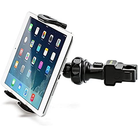 iKross Montaje para Tabletas o Celulares - Soporte Ajustable de Asiento Trasero Reposacabezas para Celulares, iPhone, Tableta y más