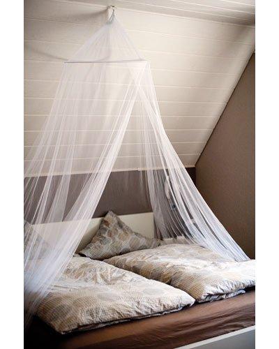 Zanzariera baldacchino per letto matrimoniale anti zanzare mosche insetti - Zanzariera per letto matrimoniale ...