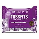 MISSFITS Protein Wonderballs - Protein Ball Bites Snack - No Added Sugar, All Natural, Great Tasting - Cacao (12 x 35g Packs)