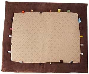 Snoozebaby Tapis de Jeux Etiquettes Taupe 80 x 105 cm