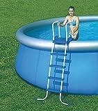Bestway grande para piscina Escalera 4 peldaños-Plataforma x 132 cm