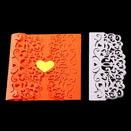 FNKDOR Scrapbooking Stanzschablone Prägeschablonen Stanzmaschine Stanzformen Schablonen, für Sizzix Big Shot und Andere Prägemaschine (G)
