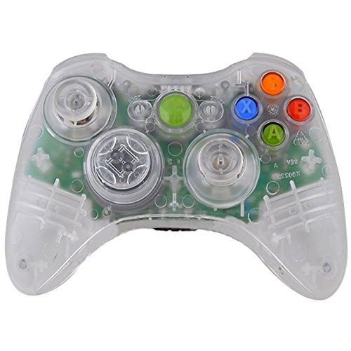 HDE Ersatzgehäuse für Xbox 360 Wireless Controller inkl. Gehäuse Buttons Thumbsticks Torx Schraubendreher farblos