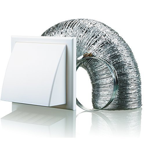Blauberg uk bb-chk-125–3-vkwh 125mm cappa aspirante duct diametro vent kit estrattore ventola–bianco