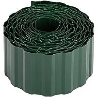 Xclou bellissa, Flexible recinzione per aiuole, Beet limitazione infrangibile, prato, limitazione Beet bordo in plastica (Pet), Verde scuro