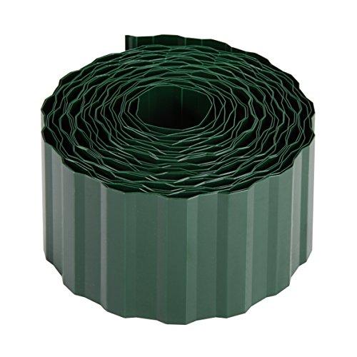 Xclou Rasenkante, flexible Beeteinfassung, Beetbegrenzung bruchfest, Rasenbegrenzung, Beetumrandung aus Kunststoff (PET), dunkelgrün