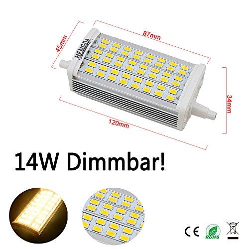 Hengda® 14W Dimmbar SMD R7s LED Leuchtmittel 118 Stab Fluter Brenner Lampe (1, Warmweiß)