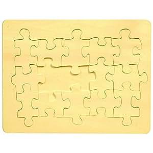 blanko holz puzzle 15 teile 29x21cm zum selbst bemalen und gestalten spielzeug. Black Bedroom Furniture Sets. Home Design Ideas