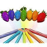 100 semillas / color semillas de fresa arco lluvia bolsa de frutas multicolores de fresas germen gérmenes Macetas y Jardineras jardín
