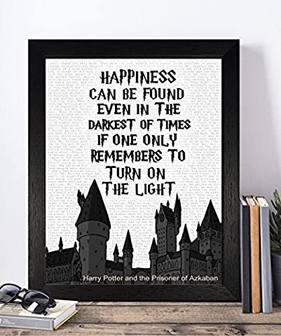 Vintage Harry Potter Quotes Unframed Print Poster Christmas Xmas Birthday Gifts For Him Her Home Decor Wall Art For Bedroom Living Room Hallway Housewarming Home Decor Elf Dobby Hogwarts