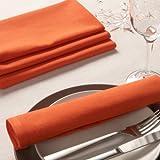 Sancarlos - Servilleta lisa naranja - algodón 100% - 50x50 cm - naranja