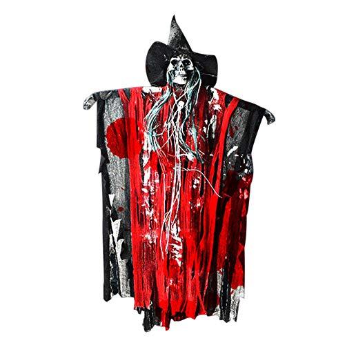 Majome Halloween Party Dekoration Prop Hängende Schädel Geist glühende Rote Augen Sound-Effekte aktiviert