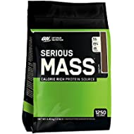 Optimum Nutrition Serious Mass Weight Gain Powder, Chocolate, 5.45 kg