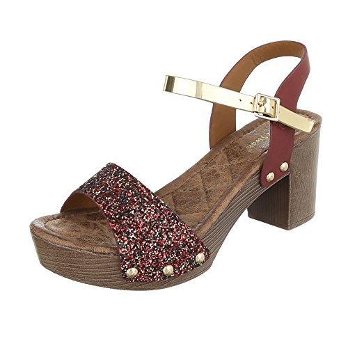 Ital-Design - Sandali donna , Marrone (Brown - Light brown), 38