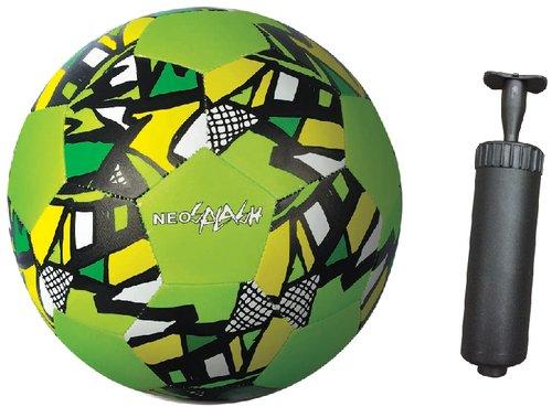 New Sports Neopren Fußball + Handpumpe im Set