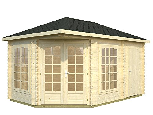 Palmako Blockbohlenhaus 2-Raum-Haus Sarah 28 mm natur
