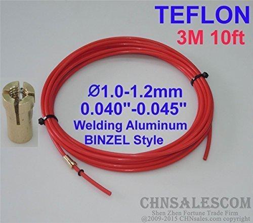 Preisvergleich Produktbild CHNsalescom BINZEL Style MIG MAG PTFE Liner 1.0-1.2 Welding Wire Connectors 3M 10ft.