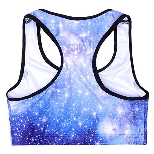 WKAIJCC Donna Sport Reggiseno Biancheria Intima Digitale Stampa Yoga Senza Anello In Acciaio Nessuna Traccia Comodo F