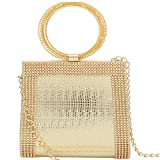 Bagaholics Women's/Girl's Clutch Sling Bag (Gold,Clutch10001)