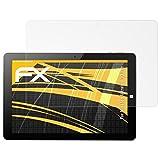 atFolix Panzerfolie kompatibel mit Ninetec Ultratab 10 Pro Schutzfolie, entspiegelnde und stoßdämpfende FX Folie (2X)