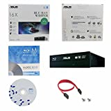 ASUS BW-16D1HT 16X Blu-Ray BDXL M-DISC CD DVD Blu-ray-Brenner Interne Laufwerk mit freiem 1pk MDisc DVD + BD Suite Software + Kabel & Befestigungsschrauben