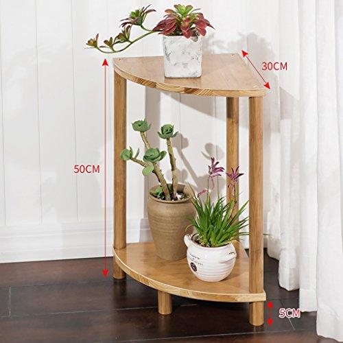 MMM& Secteur de la combinaison Balais Porte-fleurs Ensemble de bois massif en bois multicouches Étagère en pot à fleurs Étagère simple en bambou ( taille : 50 cm )
