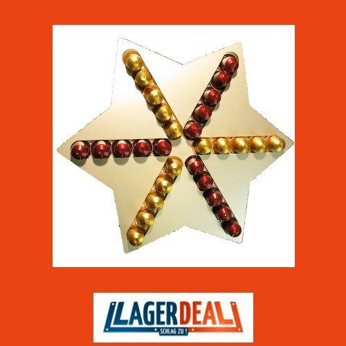 Soporte de montaje en pared estrella para 30 cápsulas Nespresso Cápsula dispensador de soporte