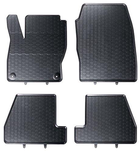 AME - Auto-Gummimatten in schwarz und Wabendesign, Geruch-vermindert und passgenau mit verbauten Befestigungen 853/4C