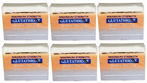 (Pack of 6)Premium Maximum Whitening/Peeling Soap - Glutathione, Arbutin, & Kojic acid -prime maximale Blanchiment / Peeling Savon - glutathion, arbutine, l'acide kojique et