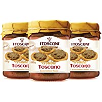 Salsa Crostini Toscana 3 paquetes de 180 g - i Toscani, sin gluten y conservante