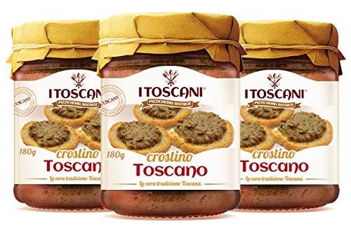 Crostino Toscano 3 confezioni da 180 g - i Toscani, Senza Glutine e Senza Conservanti