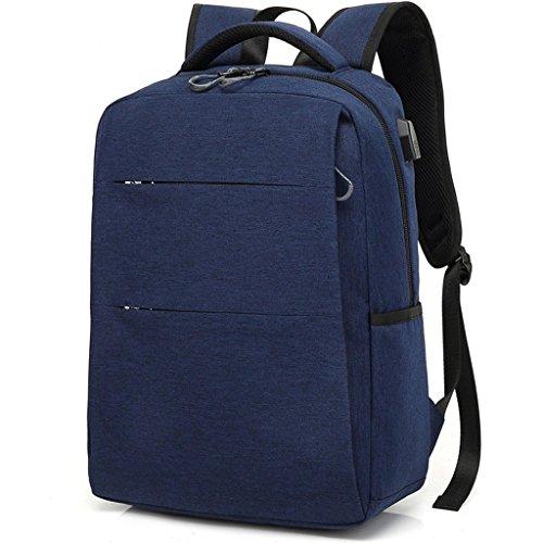 Gooz 15.6-Zoll-Reise-Laptop-Rucksack, Anti-Diebstahl-und langlebige DC-Business-Rucksack mit USB-Ladeanschluss, Wasserdichte College-Tasche - grau (Dc-rucksäcke Für Jugendliche)