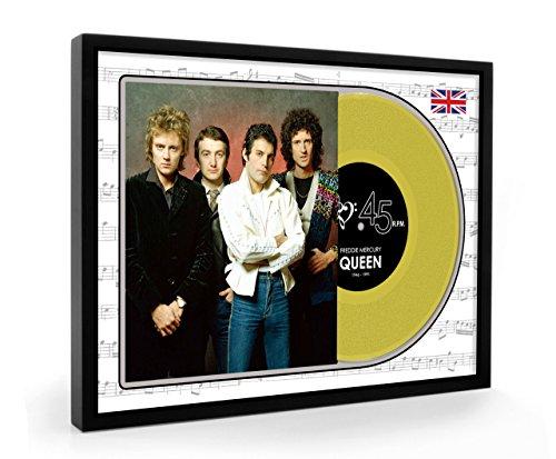 Freddie Mercury Queen Framed Disco de oro Display Premium Edition (O)