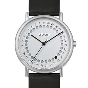 a.b.art - KLD101 - Montre Homme - Quartz Analogique - Bracelet Cuir Noir