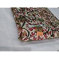 Handicraftofpinkcity floreale mano Block stampato tessuto di