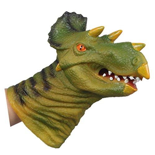 Juguete Marioneta de Mano Figura de Acción Cabeza Forma de Triceratops para Niños