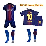 Barcelona 2016-17 Youths Home Kit Shirt & Shorts & Socks (HOME MESSI, 24 (8-9))