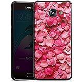 Samsung Galaxy A3 (2016) Housse Étui Protection Coque Feuilles de roses Pétales Rose vif