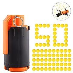 Idea Regalo - LoKauf Water Bullet Bomb + 50pcs Rival Balls Proiettile Freccette Accessori per Nerf