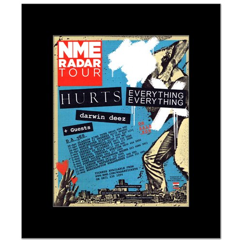 Music Ad World Mini-Poster NME Radar Tour 2010 - Hurts Everything Everything - 30 x 24,2 cm Ad Radar