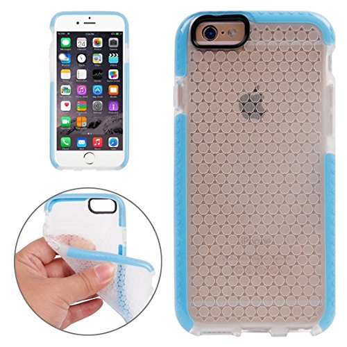 Phone case & Hülle Für iPhone 6 / 6s, Honeycomb Texture TPU Schutzhülle ( Color : Blue ) Blue