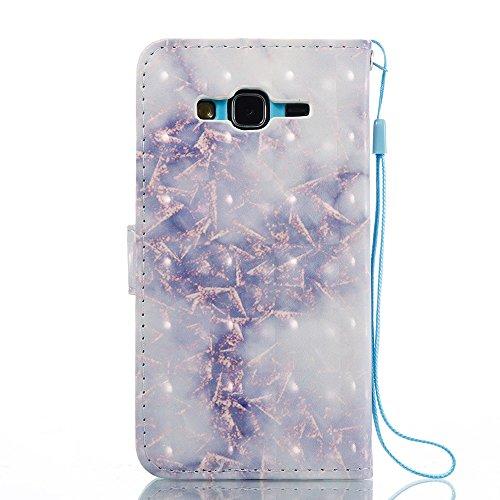 Marmor Stein Grain Texure Pattern PU Ledertasche Cover, Retro Bookstyle Flip Stand Case mit Magnetverschluss & Card Slots & Lanyard für Samsung Galaxy J3 J310 ( Color : F ) C