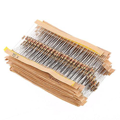 kkmoon-860pcs-1-ohm-1m-ohm-1-4w-carbon-film-resistors-en-kit-43-valeurs-composants-electroniques-au-