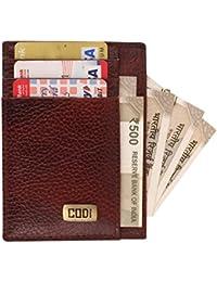 Printelligent Codi Leather Visiting Card Holder For Keeping Business Cards, Debit Cards, Credit Card - (Dark Brown)
