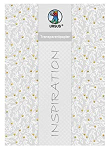 Ursus 77714602F - Papel Transparente para Bodas, 25 Hojas, 115 g/m², DIN A4, Impreso por una Cara y Acabado en láminas, Color Dorado