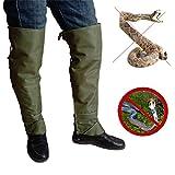 LANGYINH Leggings Serpente,Anti Strappo Impermeabile Ghette per Serpenti,Gatto e Cane Morso Anti-afferrare Coprigambe di Sicurezza,Taglia Unica