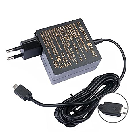 TAIFU 33W Alimentation Chargeur AC Adaptateur pour Asus Eeebook X205 X205T X205TA E200 E200H E200HA E202SA TP200SA X206HA Asus Transformer Book T100HA TP200S Ordinateur Portable Laptop Notebook -19V 1,75A - Micro USB MINI