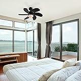 EFICIENCIA ENERGÉTICA A - Moderno Ventilador de techo negro - Fresh 3 Vidrio/Madera/Acero
